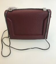 NEW 3.1 Phillip Lim Soleil Mini Chain Shoulder Bag in Burgundy Leather