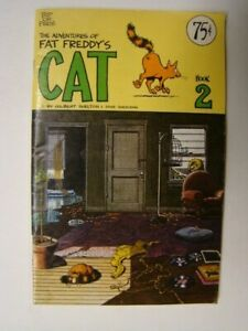 1977 Adventures of Fat Freddy's Cat #2 Gilbert Shelton Art Rip off Press $.75 Cv