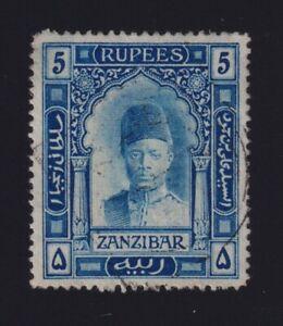 Zanzibar Sc #112 (1908-9) 5r blue Sultan Ali VF Used