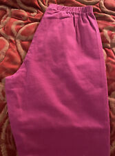 "Forenza Pink Fuchsia Size PL Petite Large Pants Cotton Spandex 37"" Long Elastic"