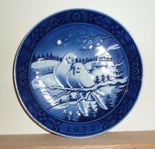 GEORG JENSON DENMARK 1972 *DOVES ON A BRANCH* FIRST ISSUE XMAS COLLECTOR PLATE