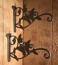 "Butterfly Cast Iron Plant Hanger 9"" tall (Set of Two) Yard & Garden 0184S-0133A"