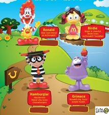MC DONALDS GRIMACE HAMBURGLAR BIRDIE BOBBLE HEADS KIDDIE LAND HAPPY MEAL RONALD