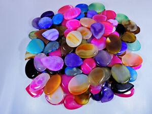 2500Cts. Natural Onyx agate multi color mix shape cabochon Gemstone 40Pcs Lot
