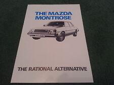 1979 1980 MAZDA MONTROSE 626 - THE RATIONAL ALTERNATIVE - UK FOLDER BROCHURE