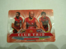 2012 AFL SELECT CHAMPIONS GOLD COAST CLUB TRIO CARD CT8 ABLETT SWALLOW BRENNAN