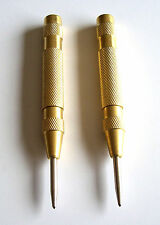 2 Brass Automatic Spring Loaded Center Punch Punches
