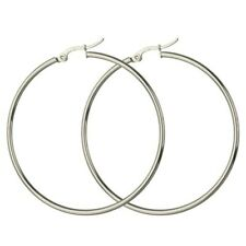 Pair 10MM-70MM Hoop Earrings Stainless Steel Silver Ear Studs Hoop Gold Ear