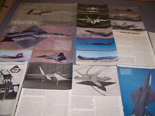 VINTAGE...LOCKHEED YF-22 & YF-23 HISTORY..HISTORY/DETAILS/3-VIEWS...RARE! (674K)