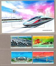China 2017-29 Achievements of China's High-speed Rail Train Stamps + S/S 高鐵發展
