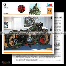 #087.11 CZ 125 1948 Classic Bike Fiche Moto Motorcycle Card