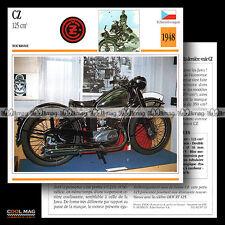 #087.11 CZ 125 1948 Classic Bike Fiche Moto Motorcycle Card