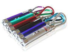 5 Red Laser Pointer Beam Light Lazer and LED Flashlight Carabiner Clip keychain