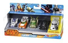 Star Wars Hot Wheels stormtrooper darth vader r2d2 yoda luke skywalker