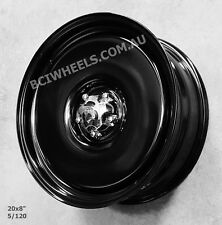 "20"" 8 CUSTOM COMMODORE BLACK STEEL WHEELS RIMS SS VR VS VT VN VY VZ VE VF CALAIS"