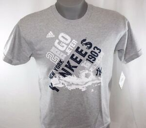 NEW Boys Kids Youth Adidas New York NY Yankees #2 Jeter Baseball Tee T-Shirt