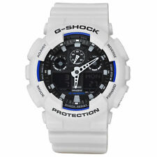 NEW Casio G-Shock GA100B-7A Watch for Men White and Blue
