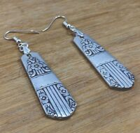 Spoon Earrings WM Rogers Oneida Harmony Silverware Plate Jewelry
