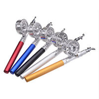 Aluminum Portable Telescopic Mini Pocket Fish Pen Shape Fishing Rod Pole Reel