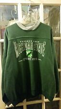 VINTAGE Michigan State Spartans EMBROIDERED Sweatshirt Adult XL March Madness