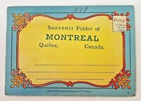 Ephemera Montreal Quebec Canada 18 Color Illustrations Souvenir Folder Vintage