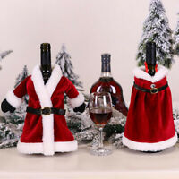 1PC Christmas Wine Bottle Cover Bag Clothes New Year Dinner Table Party Decor xc