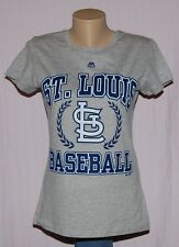 Majestic Womens St. Louis Cardinals Baseball T-Shirt Gray XL