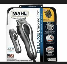 NEW Wahl Deluxe Chrome Pro 25 Piece Haircutting Kit /Beard Trimmer BRAND NEW 🔥