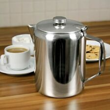 Boxed Large 2.0 Litre Stainless Steel Mirror Finish Teapot Coffeepot 70fl.oz