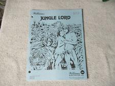 Jungle Lord Schematics Pinball Williams arcade game manual