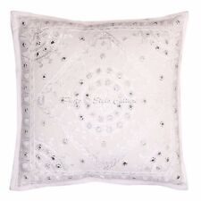 """Indian Pillow Case Cover Throw Abstract Embroidery Cushion Cover 16"""" Throw"""
