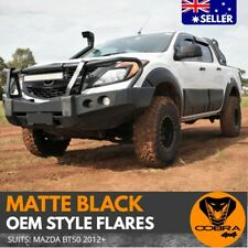FENDER FLARES KIT MATTE BLACK FITS MAZDA BT-50 2012 - 2017 GUARD TRIM