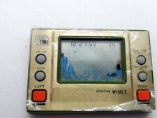 GAME WATCH GAME TIME SPOUTING WHALE MORIOKA TOKEI JAPAN 1982 VINTAGE