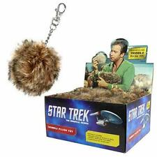 "STAR TREK TOS Licensed 2.5"" TRIBBLE Key Chain PLUSH Clip Great Stocking Stuffers"