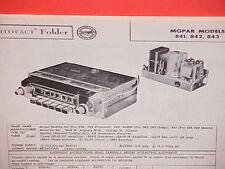 1956 PLYMOUTH BELVEDERE DODGE CORONET DESOTO CONVERTIBLE AM RADIO SERVICE MANUAL