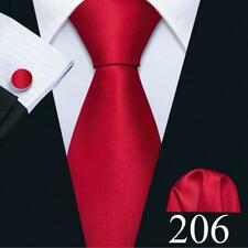 32ff94276d49 UK Classic Mens Tie Silk Red Burgundy Black White Solid Paisley Striped  Necktie