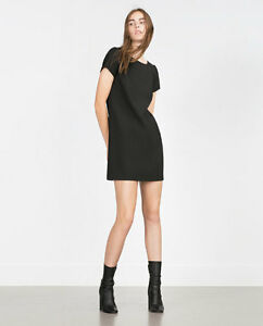 ZARA Midi Robe Caftan Coquillage Cuisine Black Dress Seashell Mic 2161//644