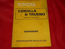 Toyota corolla et trueno atelier Manuel carrosserie de 1977