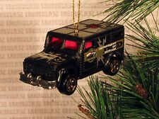 DEPARTMENT OF DEFENSE ARMORED CAR TRUCK BLACK CHRISTMAS ORNAMENT XMAS