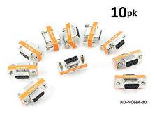 10-PACK DB9 Mini NULL MODEM Female/Female Data Transfer Adapter/Gender Changer