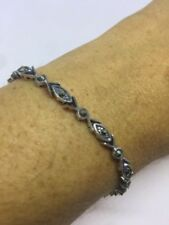 Bracelet Sterling Silver Marcasite Vintage & Antique Jewellery