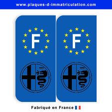 Sticker plaque alfa romeo 02  F (jeu de 2 stickers)