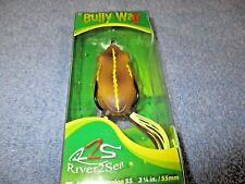 River2Sea NEW BULLY WA 55 II Frog in Color WHISTLING for BASS/PIKE