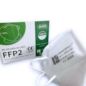 FFP2 FFP 2 Makse Atemschutz Mundschutz Mund-Nasen-Schutz 5-lagig CE 0598 Zertifi