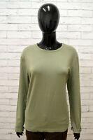 Maglia Donna GUESS Taglia Size L Maglietta Shirt Woman Manica Lunga Cotone