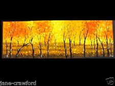 "71"" bush scrub fire dream oil painting  Aboriginal yellow orange large canvas"
