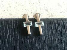 Kit Heath Silver 925 cross shaped earrings with Topaz stone
