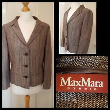 Max Mara Studio Collection Womens Brown Jacket Blazer Size 12 Made in Italy.