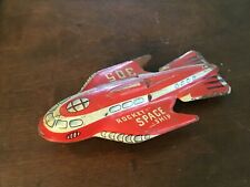 Old Tin Friction 305 Rocket Space Ship Cool!