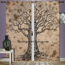 Mandala Tree Of Life Door Window Valances Decor Drape Panel Bohemian Tapestry